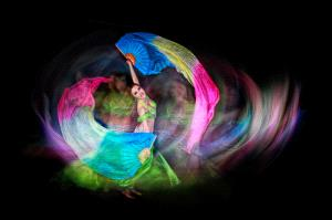 PhotoVivo Gold Medal - Pat Choo (Singapore)  Belly Dancerwith Ribbons